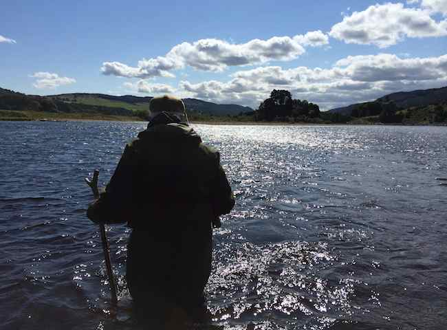 Fishing For Big Salmon On The River Tay