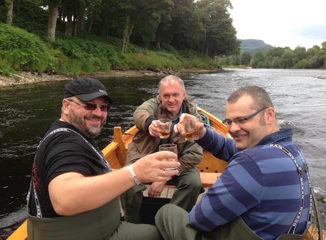 Celebrate Catching A Salmon On The River Tay