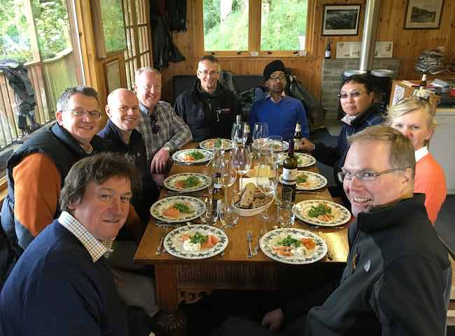 Salmon Fishing Event Lunch