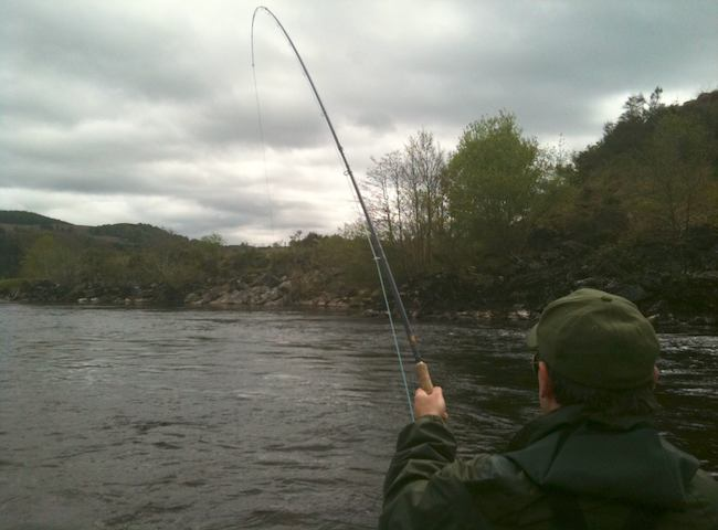 Catching A Big Scottish Salmon