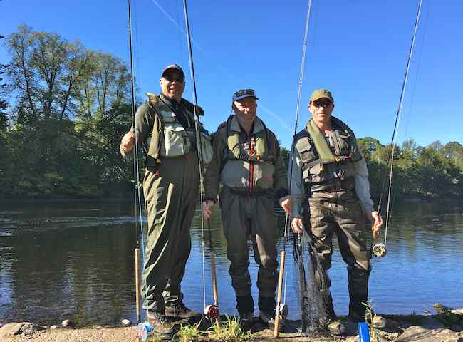 Fishing With Friends On The River Tay