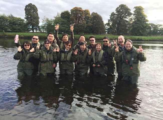 Corporate Salmon Fishing Events
