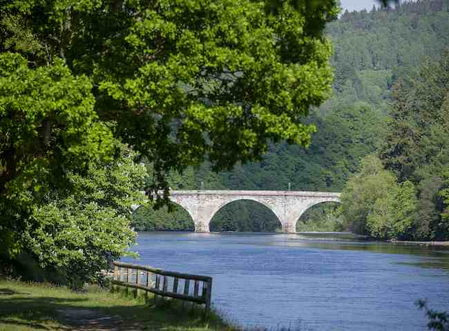 The Telford Bridge On The River Tay