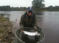 Catching Salmon On The River Tay