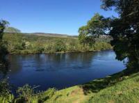 The Riverbank Scenery In Scotland