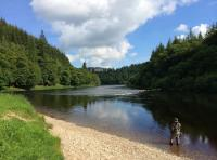 Fishing The River Tay In Scotland