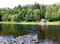Perfect Scottish Salmon River Fishing