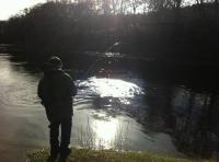 Spring Fishing For Salmon On The River Tay