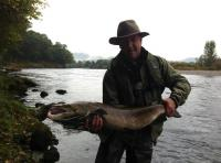 Fishing For Salmon On The River Tay