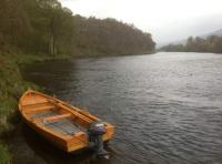 Boat Fishing For Salmon On The River Tay